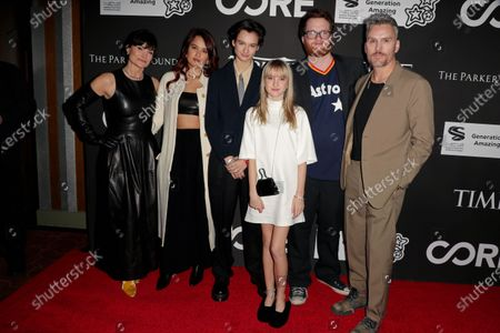 Rosetta Getty, Grace Getty, Violet Getty, Balthazar Getty and guests