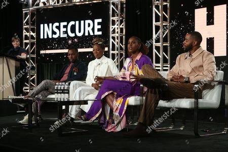 Prentice Penny, Yvonne Orji, Issa Rae and Jay Ellis