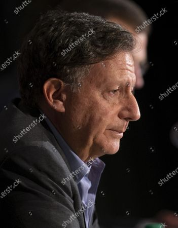 Boston Red Sox Chairman Tom Werner during a news conference regarding the sign stealing cheating scandal, at Fenway Park in Boston, Massachusetts, USA 15 January 2020.