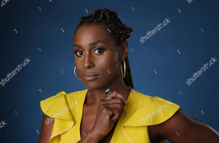 """Issa Rae, an executive producer of the HBO comedy series """"A Black Lady Sketch Show,"""" during the 2019 Television Critics Association Summer Press Tour in Beverly Hills, Calif. Rae's quick comment after five men were announced as Oscar nominees for best director was spur of the moment, but captured the lack of diversity among this year's nominees. """"We were told to banter for five seconds as the teleprompter loaded, so that was my banter,"""" Rae told a TV critics meeting Wednesday. Rae and fellow actor John Cho announced the nominees on Monday. """"Congratulations to those men,"""" Rae said dryly after the director category was revealed"""