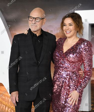 Sir Patrick Stewart (L) poses with his wife US singer-songwriter Sunny Ozell during the 'Star Trek: Picard' premiere at Leicester Square in London, Britain, 15 January 2020.