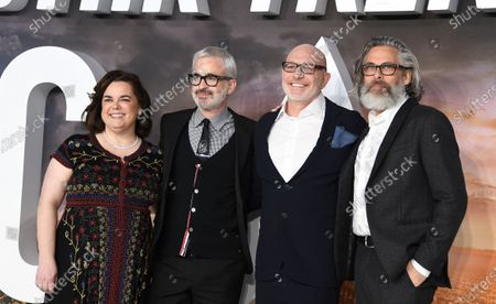 Executive producers Kirsten Beyer, Alex Kurtzman, Akiva Goldsman and Michael Chabon pose during the 'Star Trek: Picard' premiere at Leicester Square in London, Britain, 15 January 2020.