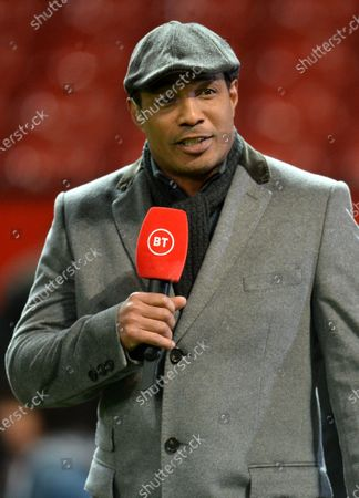 Former Manchester United player Paul Ince working for a Tv broadcaster during the English FA Cup 3rd round replay match between Manchester United and Wolverhampton Wanderers in Manchester, Britain, 15 January 2020.