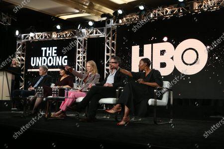 David E. Kelly, Susanne Bier, Nicole Kidman, Hugh Grant and Noma Dumezweni