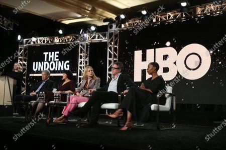 Stock Image of David E. Kelly, Susanne Bier, Nicole Kidman, Hugh Grant and Noma Dumezweni
