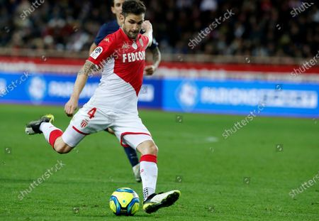 Cesc Fabregas of AS Monaco in action during the French Ligue 1 soccer match, AS Monaco vs Paris Saint Germain, at Stade Louis II, in Monaco, 15 January 2020.