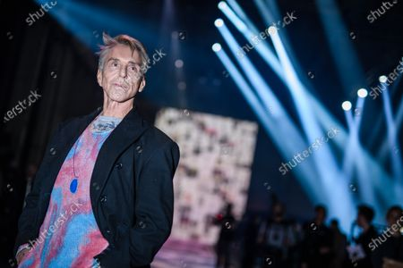 German designer Wolfgang Joop poses for photographers prior to the show 'Look by Wolfgang Joop' during the Mercedes-Benz Fashion Week Berlin, in Berlin, Germany, 15 January 2020. The Fall/Winter 2020 collections are presented at the MBFW Berlin from 13 to 15 January.