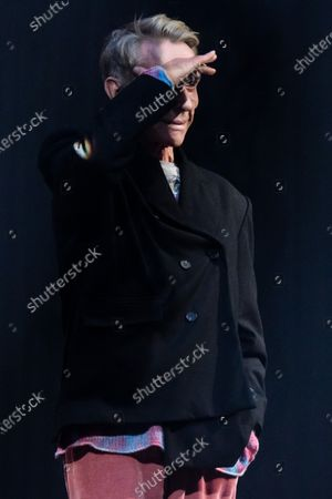 German designer Wolfgang Joop looks out on stage after the show 'Look by Wolfgang Joop' during the Mercedes-Benz Fashion Week Berlin, in Berlin, Germany, 15 January 2020. The Fall/Winter 2020 collections are presented at the MBFW Berlin from 13 to 15 January.
