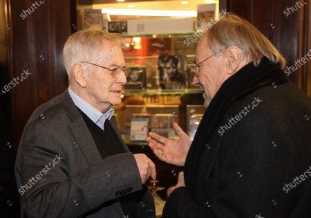 Istvan Szabo and Klaus Maria Brandauer at the Metro Kinokulturhaus