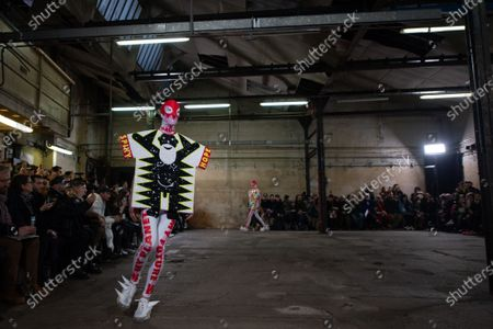 Models present creations from the Fall/ Winter 2020/2021 Ready to Wear collection by Belgian designer Walter Van Beirendonck for Walter Van Beirendonck fashion house during the Paris Fashion Week, in Paris, France, 15 January 2020. The presentation of the men's collections runs from 14 to 19 January.