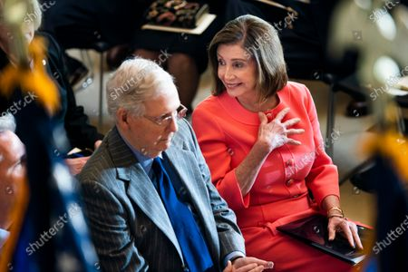 Editorial image of Pelosi, McConnell attend Steve Gleason Congressional gold medal ceremony, Washington, USA - 15 Jan 2020