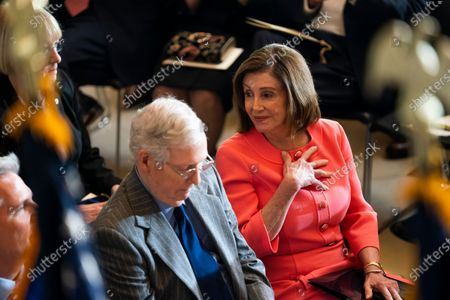 Editorial photo of Pelosi, McConnell attend Steve Gleason Congressional gold medal ceremony, Washington, USA - 15 Jan 2020
