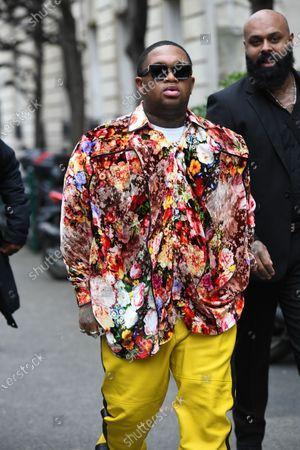 Editorial image of Street Style, Autumn Winter 2020, Paris Fashion Week Men's, France - 15 Jan 2020