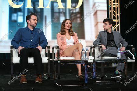 Rhys Thomas, Nasim Pedrad and Jake Ryan