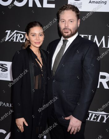 Stock Picture of Sean Parker and wife Alexandra Lenas