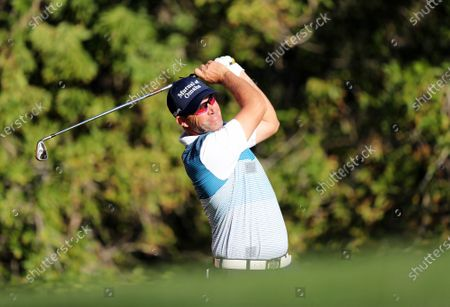 Padraig Harrington of Ireland tees off during the first round of the Abu Dhabi HSBC Golf Championship 2020 at Abu Dhabi Golf Club in Abu Dhabi, United Arab Emirates, 16 January 2020.