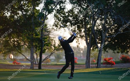 Robert Karlsson of Sweden in action during the first round of the Abu Dhabi HSBC Golf Championship 2020 at Abu Dhabi Golf Club in Abu Dhabi, United Arab Emirates, 16 January 2020.