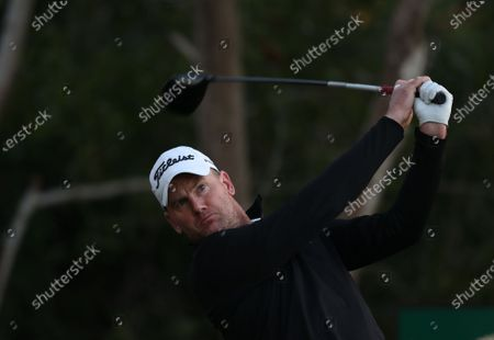 Robert Karlsson of Sweden tees off during the first round of the Abu Dhabi HSBC Golf Championship 2020 at Abu Dhabi Golf Club in Abu Dhabi, United Arab Emirates, 16 January 2020.