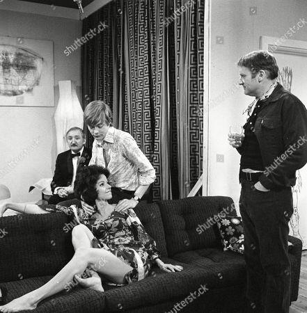 Stock Photo of Ronald Fraser as Basil Allenby-Johnson, Susan Carpenter as Alicia Allenby-Johnson, Simon Ward as Ted Allenby-Johnson and Donald Morley as Ken