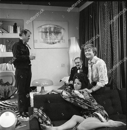 Donald Morley as Ken, Ronald Fraser as Basil Allenby-Johnson, Susan Carpenter as Alicia Allenby-Johnson and Simon Ward as Ted Allenby-Johnson
