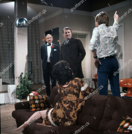 Ronald Fraser as Basil Allenby-Johnson, Susan Carpenter as Alicia Allenby-Johnson, Donald Morley as Ken and Simon Ward as Ted Allenby-Johnson