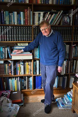 Stock Photo of Sir Bernard Ingham 'My Haven' in his Sitting Room