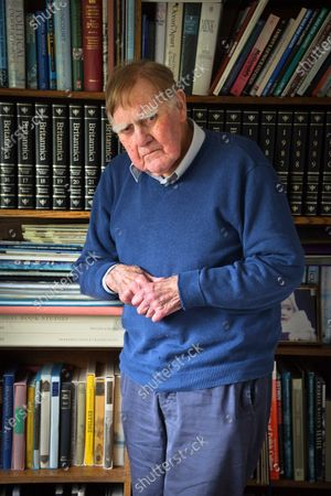 Stock Picture of Sir Bernard Ingham 'My Haven' in his Sitting Room