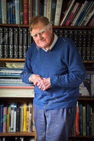 Stock Image of Sir Bernard Ingham 'My Haven' in his Sitting Room