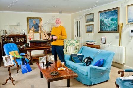Editorial image of Sir Robin Knox-Johnston photoshoot, Portsmouth, UK - 17 Dec 2018