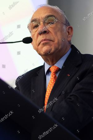 General Secretary of OECD (Organization for Economic Co-operation and Development) Mexican Jose Angel Gurria speaks at a ministerial meeting and forum on migration and integration t OECD headquarters, in Paris, France, 16 January 2020. The meeting is focused on lessons from global migration over the past decade and to prepare for the future.