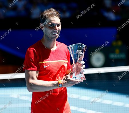 Spain v Japan - Rafael Nadal of Spain with the Stefan Edberg Sportsmanship Award