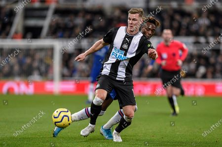 Stock Image of 18th January 2020, St. James's Park, Newcastle, England; Premier League, Newcastle United v Chelsea : Emil Krafth (17) of Newcastle United in action