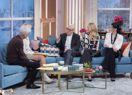 Phillip Schofield and Holly Willoughby with Sir Patrick Stewart, Jeri Ryan, Isa Briones