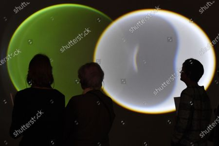 Guests attend the opening of the exhibition 'Symbiotic Seeing' by Danish-Icelandic artist Olafur Eliasson at the Kunsthaus in Zurich, Switzerland, 16 January 2020. The exhibition runs from 17 January to 22 March.