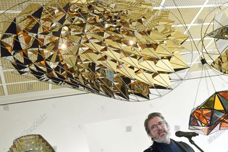Danish-Icelandic artist Olafur Eliasson attends the opening of his exhibition 'Symbiotic Seeing' at the Kunsthaus in Zurich, Switzerland, 16 January 2020. The exhibition runs from 17 January to 22 March.