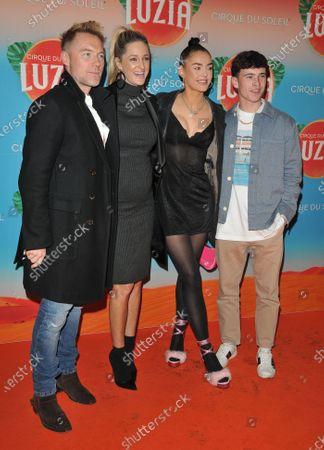 Ronan Keating, Storm Keating, Missy Keating and Mark Elebert