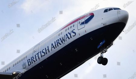 A British Airways (BA) aircraft prepares to land at Heathrow Airport in London, Britain, 16 January 2020. The owner of British Airways, International Airlines Group (IAG), on 15 January filed a complaint to the EU over the British Government's 120-million-euro bail-out plan for the UK regional airline Flybe. Willie Walsh, Chief Executive of IAG, said the bail-out would be a 'blatant misuse of public funds'.