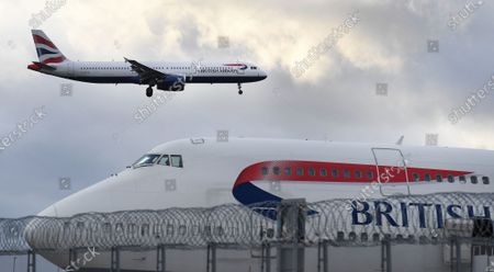 British Airways (BA) aircrafts are seen at Heathrow Airport in London, Britain, 16 January 2020. The owner of British Airways, International Airlines Group (IAG), on 15 January filed a complaint to the EU over the British Government's 120-million-euro bail-out plan for the UK regional airline Flybe. Willie Walsh, Chief Executive of IAG, said the bail-out would be a 'blatant misuse of public funds'.