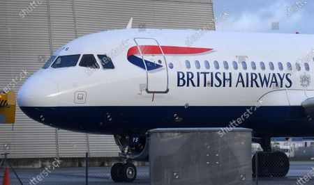 A British Airways (BA) aircraft is seen at Heathrow Airport in London, Britain, 16 January 2020. The owner of British Airways, International Airlines Group (IAG), on 15 January filed a complaint to the EU over the British Government's 120-million-euro bail-out plan for the UK regional airline Flybe. Willie Walsh, Chief Executive of IAG, said the bail-out would be a 'blatant misuse of public funds'.