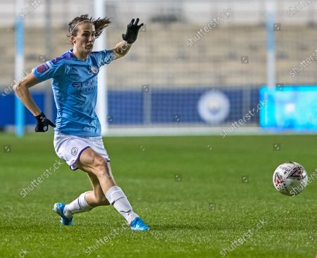 Stock Picture of Jill Scott of Manchester City Women passes the ball forward