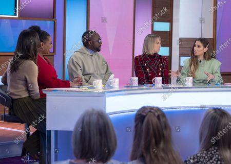 Christine Lampard, Brenda Edwards, Will i am, Carol McGiffin and Stacey Solomon
