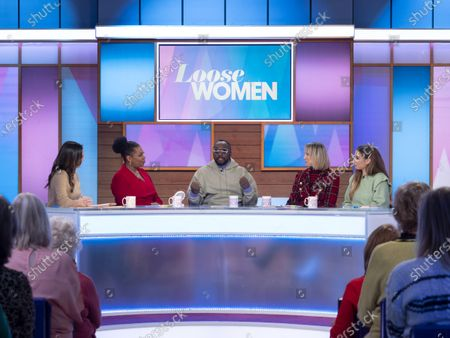 Stock Image of Christine Lampard, Brenda Edwards, Will i am, Carol McGiffin and Stacey Solomon