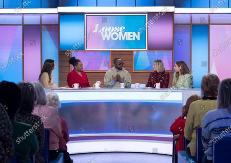 Stock Picture of Christine Lampard, Brenda Edwards, Will i am, Carol McGiffin and Stacey Solomon