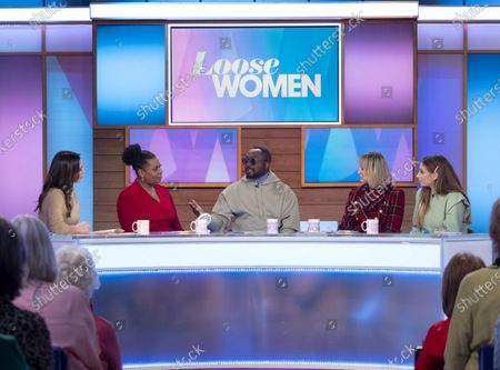 Stock Photo of Christine Lampard, Brenda Edwards, Will i am, Carol McGiffin and Stacey Solomon