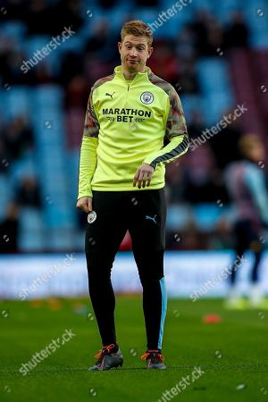 Stock Picture of Kevin De Bruyne of Manchester City warms-up prior to the match