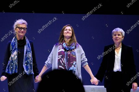 Stock Picture of Elizabeth Strout, Laura Linney, Rona Munro