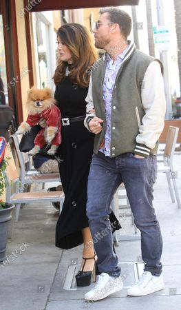 Stock Photo of Lisa Vanderpump-Todd and Lance Bass
