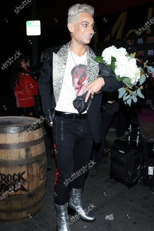 Frankie Grande outside Bourbon Room in West Hollywood