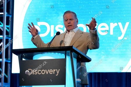 President & CEO, Discovery David Zaslav speaks during the Discovery Network TCA 2020 Winter Press Tour at the Langham Huntington, in Pasadena, Calif