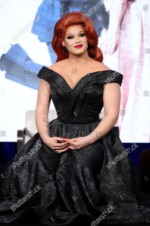 """Alexis Michelle appears at the TLC's """"Dragnificent!"""" during the Discovery Network TCA 2020 Winter Press Tour at the Langham Huntington, in Pasadena, Calif"""